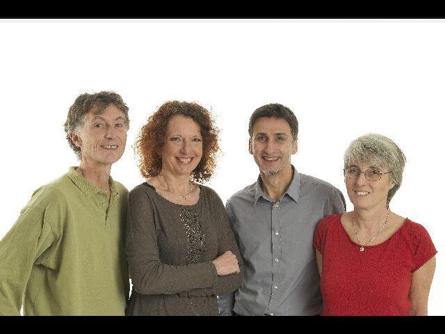 De gauche à droite :  Alain LE GALL, Marianne PRODHOMME, Bruno BARON, Ghislaine CHAMBOLLE